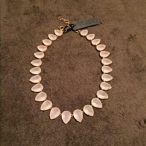 J. Crew rose quartz necklace